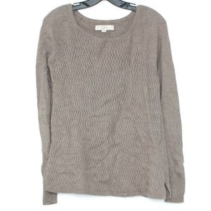Ann Taylor Loft Womens Sweater WOOL Brown Small H1